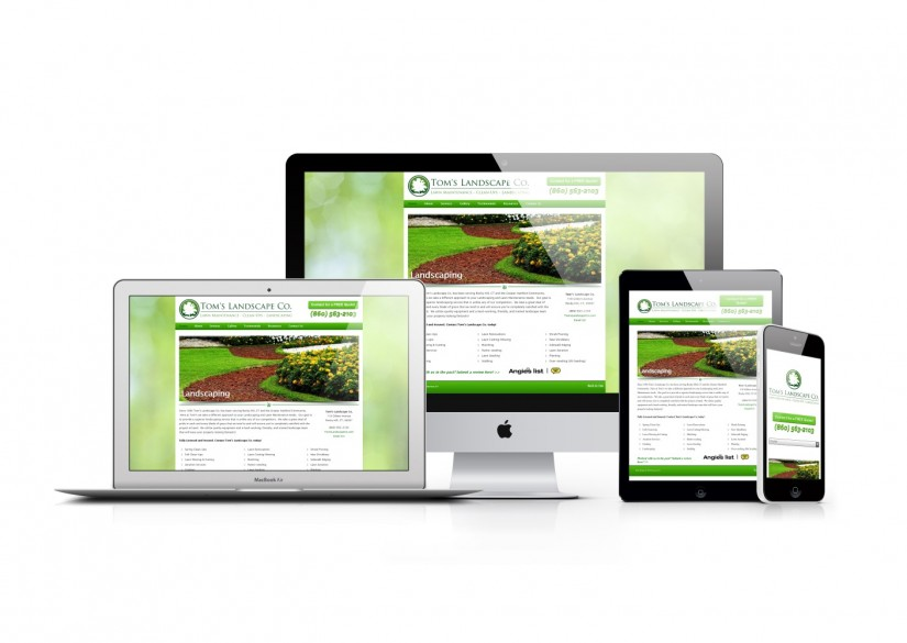 Connecticut Web Design - WordPress Landscaper Website
