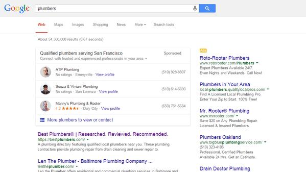 Google Home Service Ad