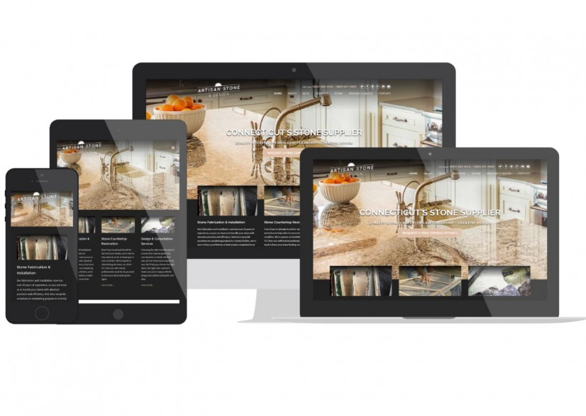 Connecticut Web Design - Artisan Stone and Design
