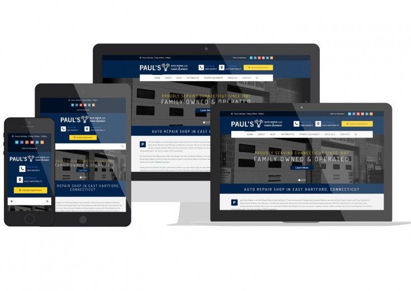 Connecticut Web Design - Pauls Auto Repair
