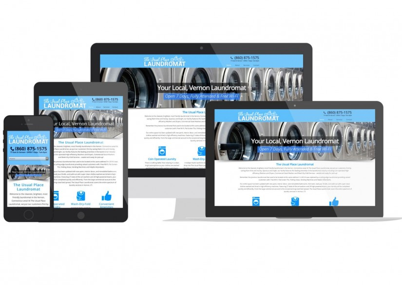 Connecticut Web Design - Vernon Laundromat