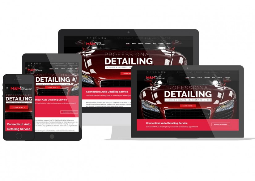 Car Detailing WordPress Web Design