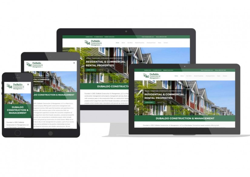 Dubaldo Construction CT Web Design