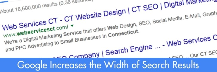 Google Increases the Width of Search Results